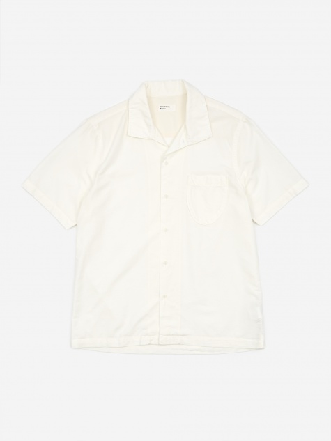 Open Collar Shirt - Ecru