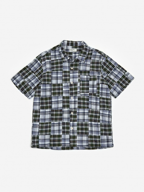 Road Shirt - Patchwork Madras Blue