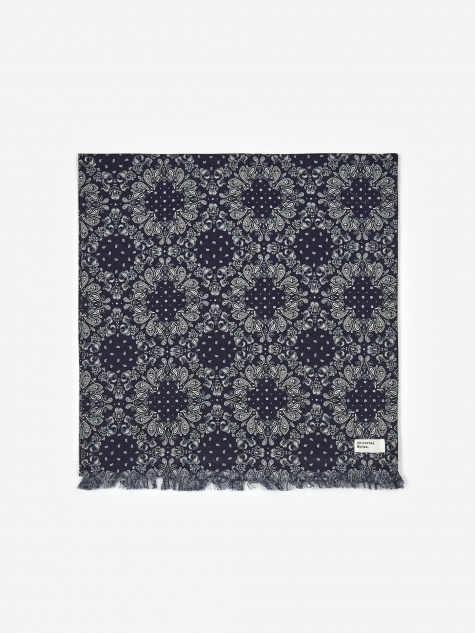 Long Scarf - Bandana Cotton Navy
