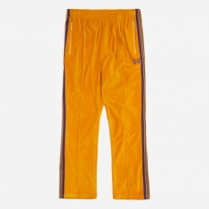 Needles Narrow Track Pant Velour - Mustard