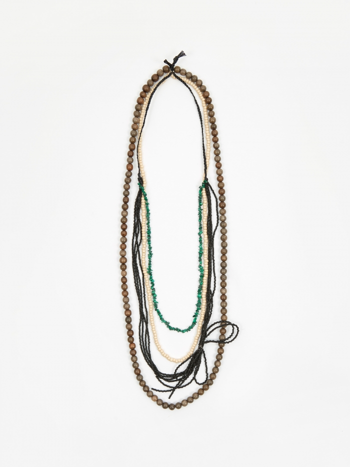 TOGA ARCHIVES Beads Necklace - Black (Image 1)