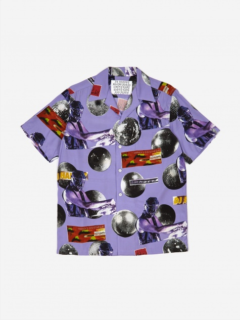 x DJ Harvey Shortsleeve Hawaiian Shirt - Purple