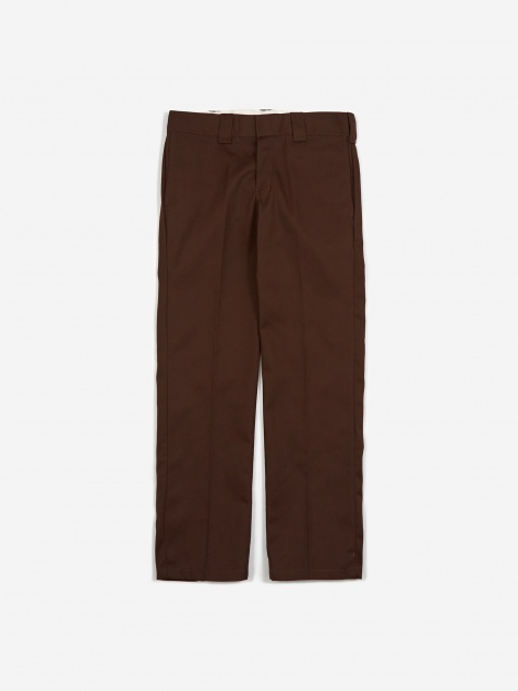 Slim Straight 873 Work Trousers - Chocolate Brown