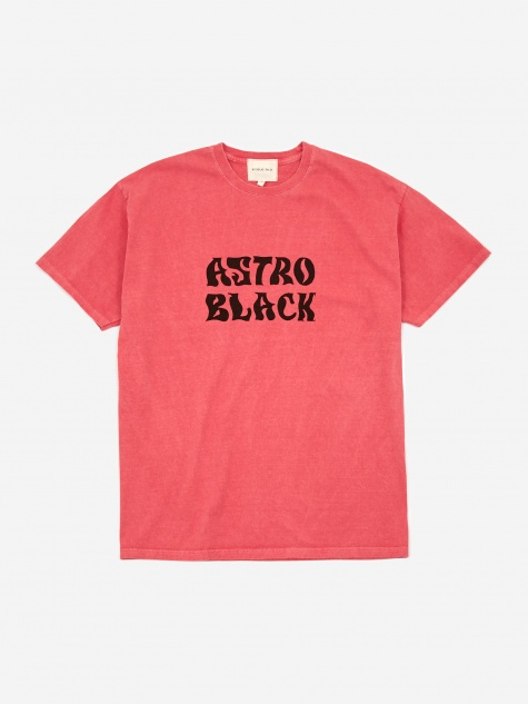 Astro Black Garment Dyed T-Shirt - Red
