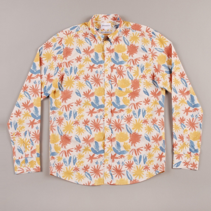 Norse Projects Anton Botanical Shirt - Old White (Image 1)