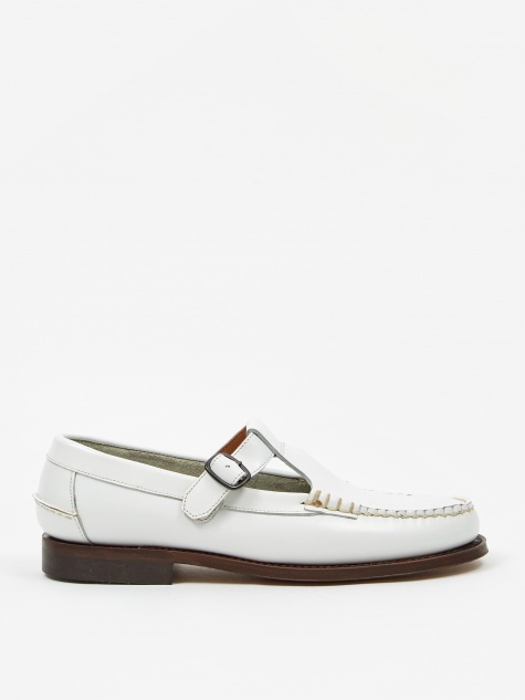 Alber Buckle Loafer - White