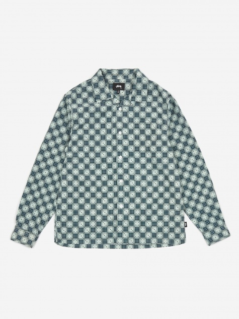 Dice Checker Shirt - Indigo