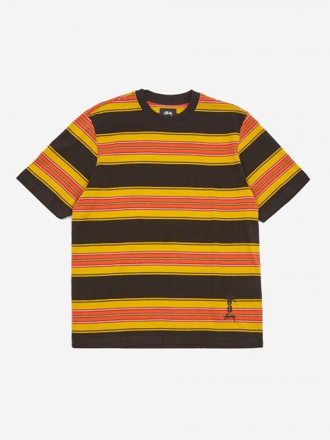 Multi Stripe Crewneck T-Shirt - Black