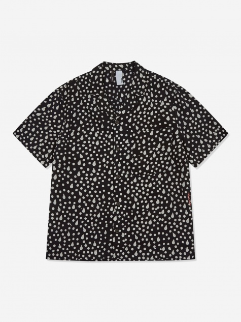 Camp Collar Shirt - Black/White