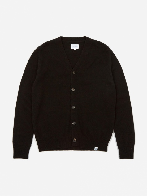 Adam Lambswool Cardigan - Black