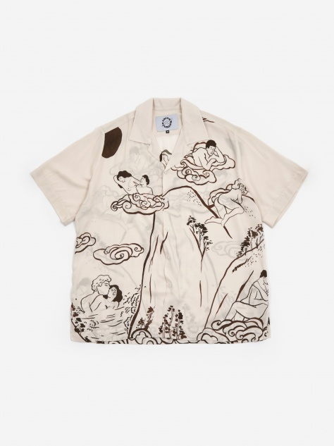 Island Of Gapes Shirt - Beige/Brown