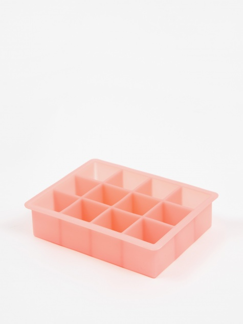 Ice Cube Tray Square X-Large 12 Cubes - Pink