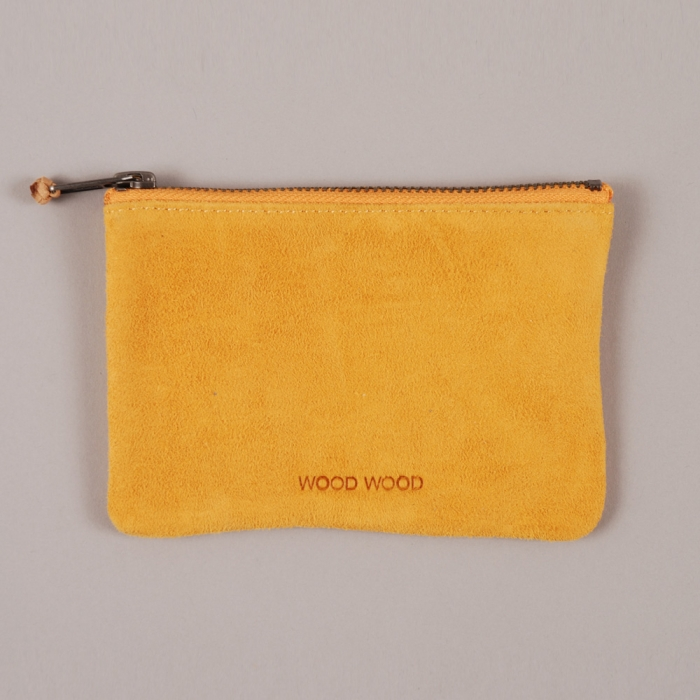 Wood Wood Zip Wallet - Beeswax Suede (Image 1)