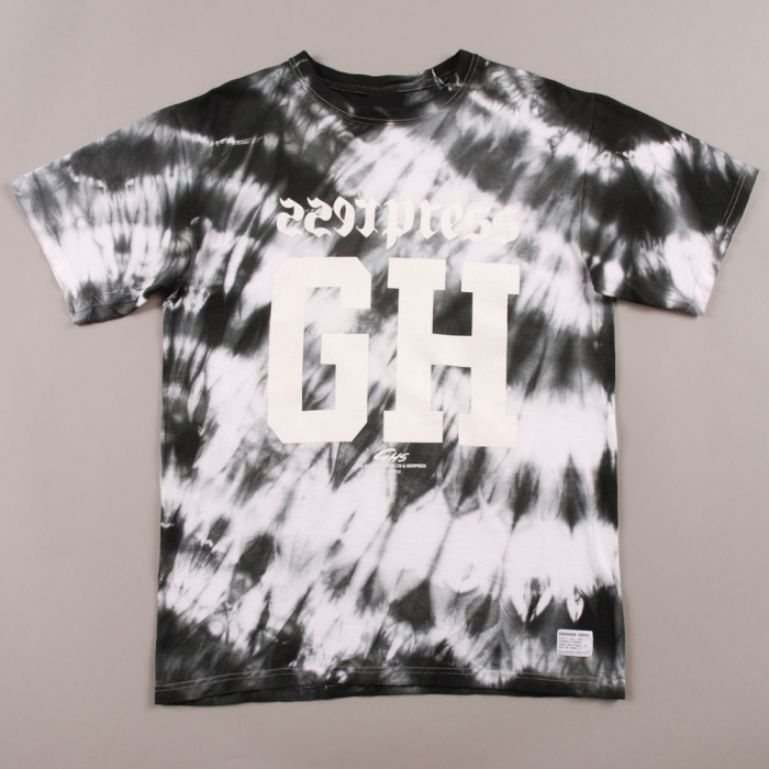 Goods By Goodhood Goodhood x Sserpress Tie Dye Tee - Black/White (Image 1)