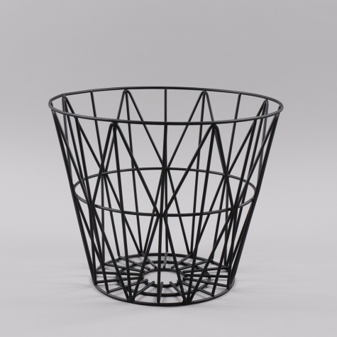 ferm living wire basket small black. Black Bedroom Furniture Sets. Home Design Ideas