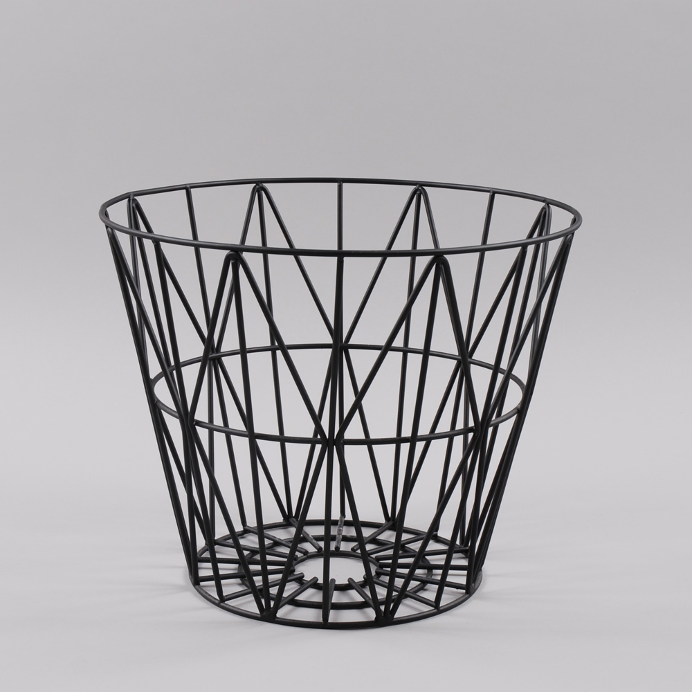 ferm living wire basket small black no longer available ferm living. Black Bedroom Furniture Sets. Home Design Ideas