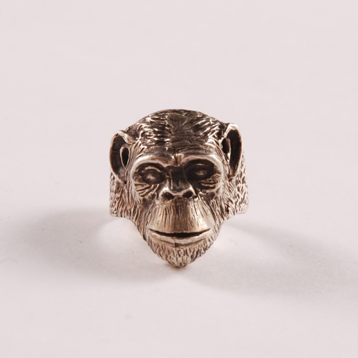 Dog State Silver Monkey Ring (Image 1)