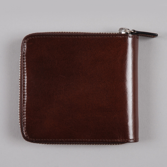 Il Bussetto Large Zip Wallet - Tobacco (Image 1)