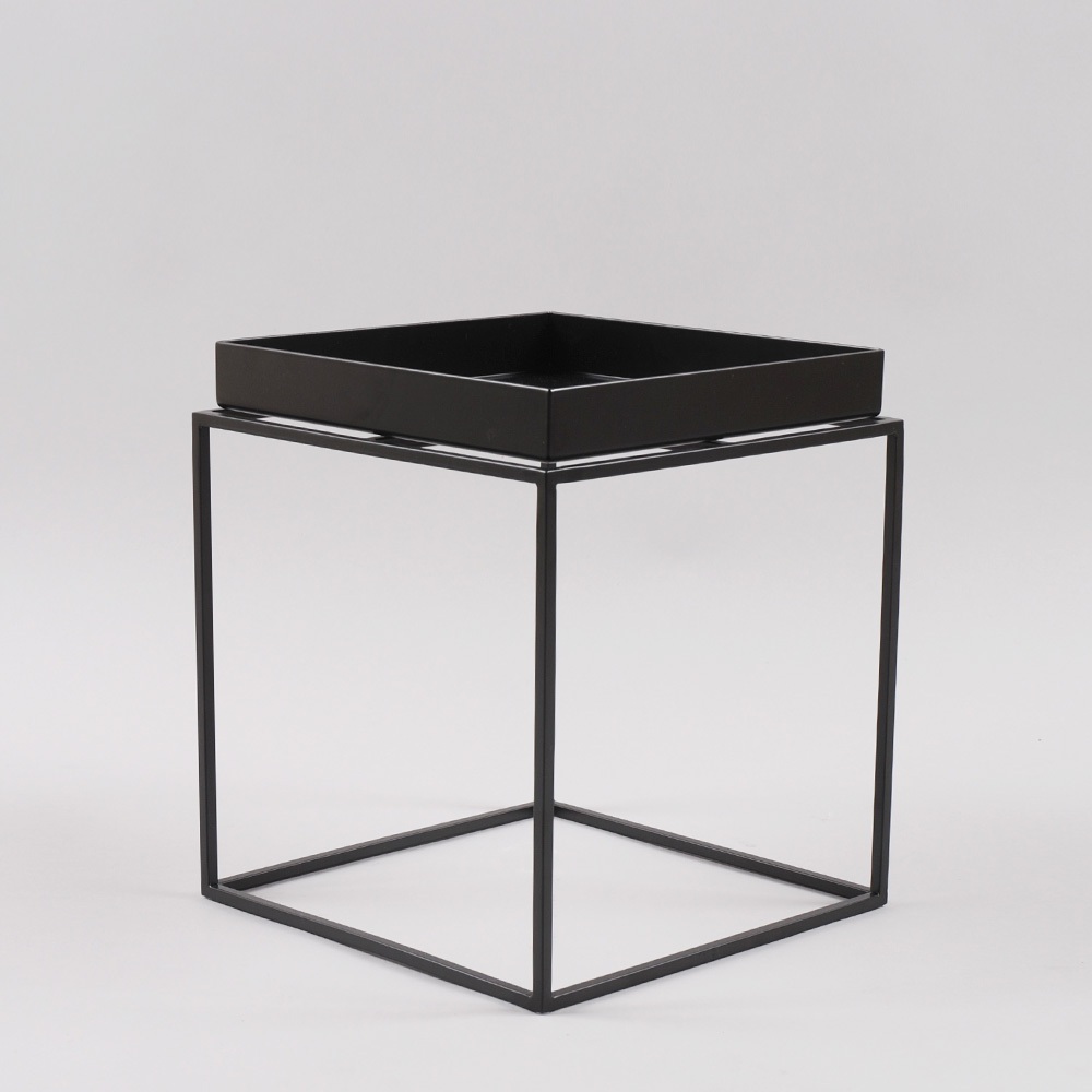 hay tray table small square black. Black Bedroom Furniture Sets. Home Design Ideas