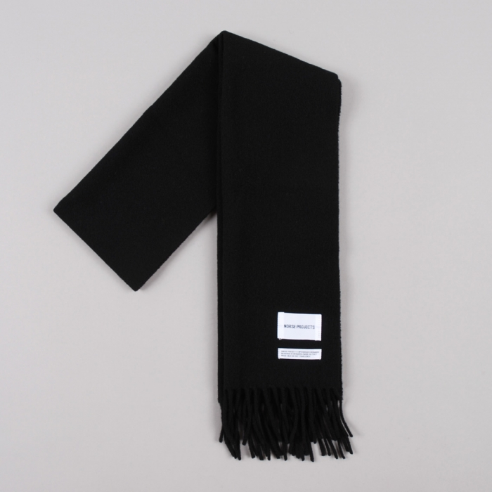 Norse Projects Sigurd Scarf - Black (Image 1)