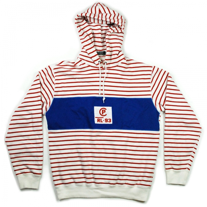 Vintage Ralph Lauren Polo (RL P) 'sailor' striped hoodie