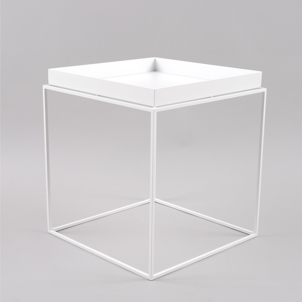 hay tray table medium square white. Black Bedroom Furniture Sets. Home Design Ideas