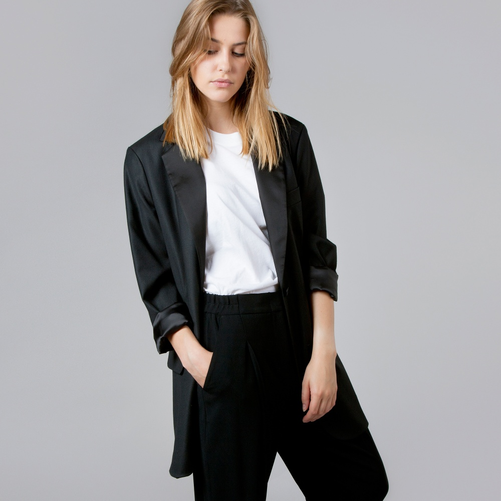 Mm6 by maison martin margiela blazer black for Mm6 maison margiela