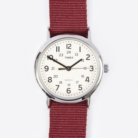Weekender Watch - Cream/Burgundy