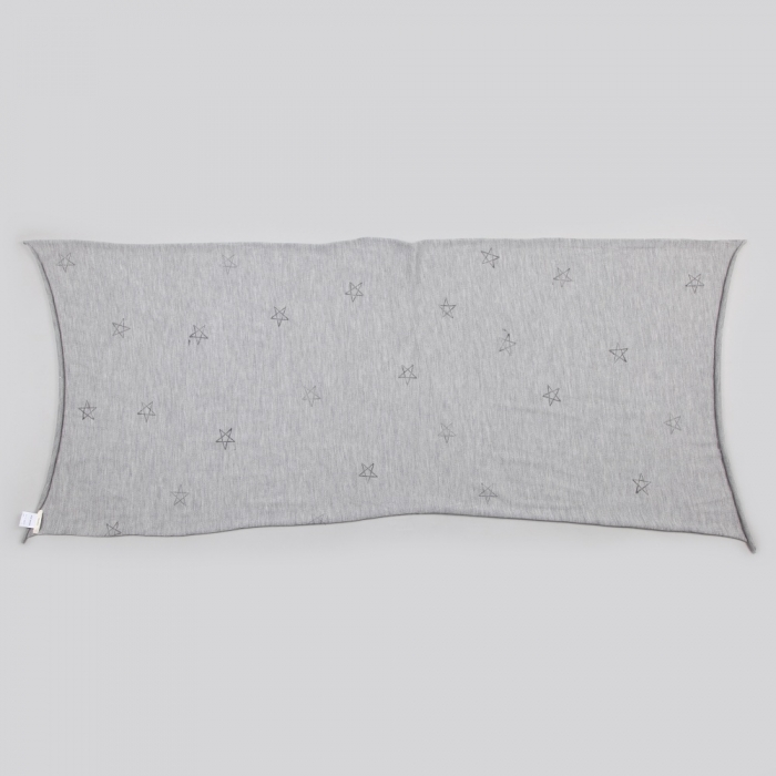 Von Sono All Over Stars Wool Scarf - Grey (Image 1)
