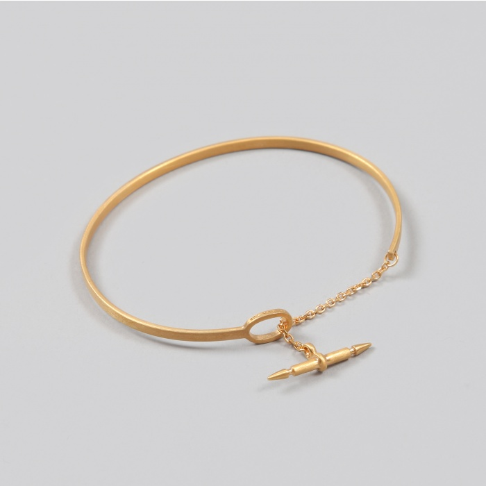 Maria Black Spear Chain Bracelet - Gold (Image 1)