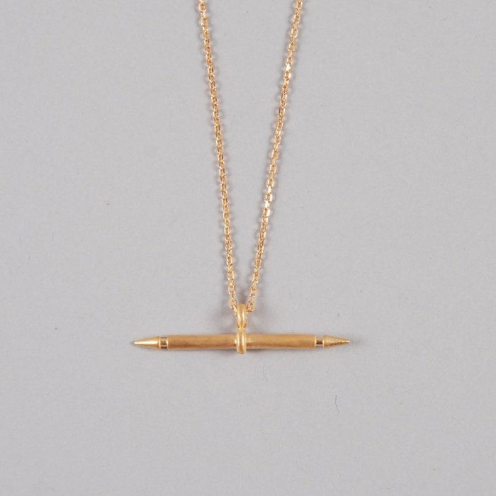 Maria Black Spear Necklace - Gold (Image 1)