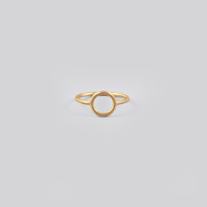 Maria Black Monocle Ring - Gold (Image 1)