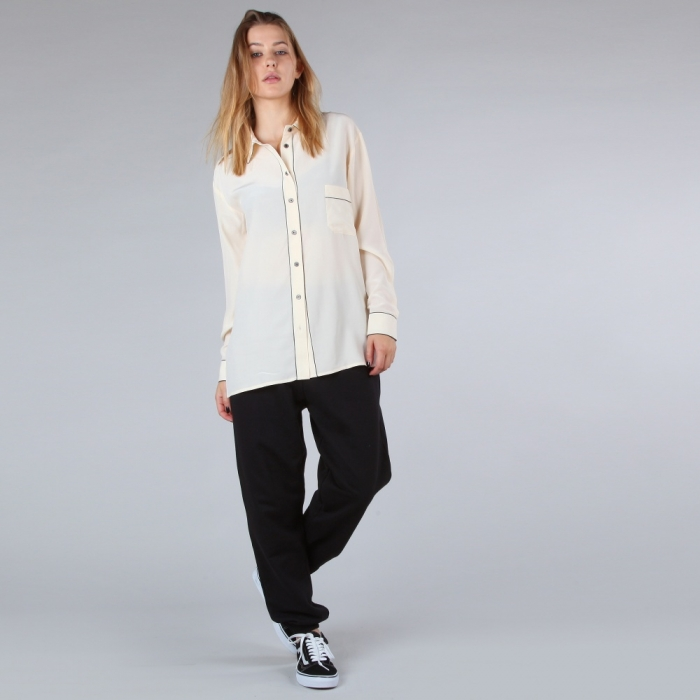 Ganni Sylvia Silk Shirt - Cream (Image 1)