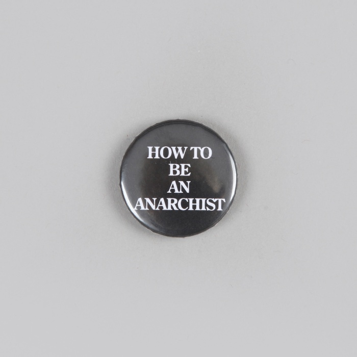 FPAR How To Be An Anarchist Small Button - Black (Image 1)