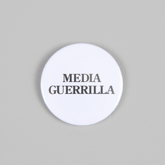 FPAR Media Guerrilla Large Button - White (Image 1)