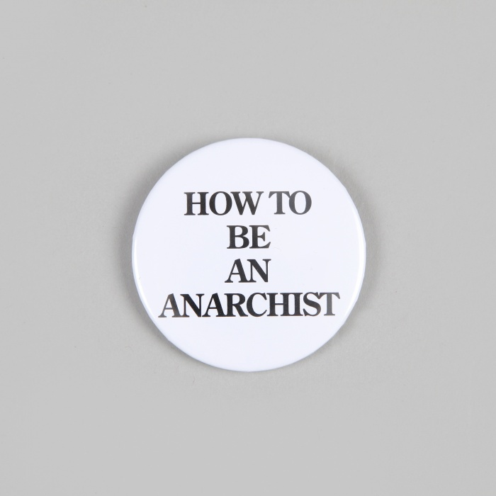 FPAR How To Be An Anarchist Large Button - White (Image 1)