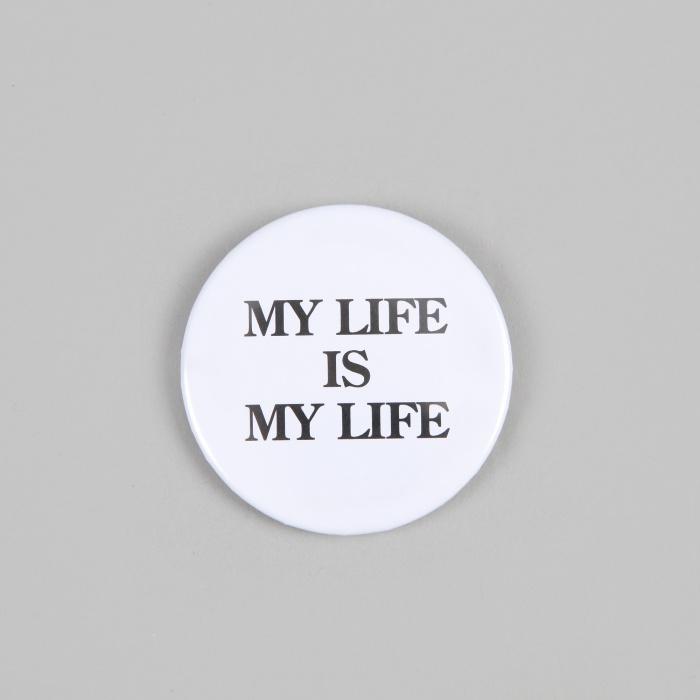 FPAR My Life Is My Life Large Button - White (Image 1)