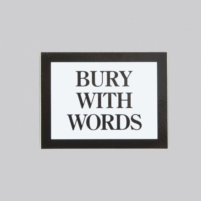 FPAR Bury With Words Sticker - Black (Image 1)