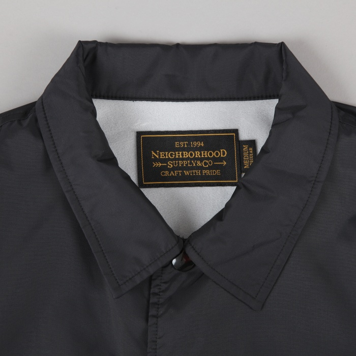 Neighborhood Brooks Coach Jacket - Black (Image 1)