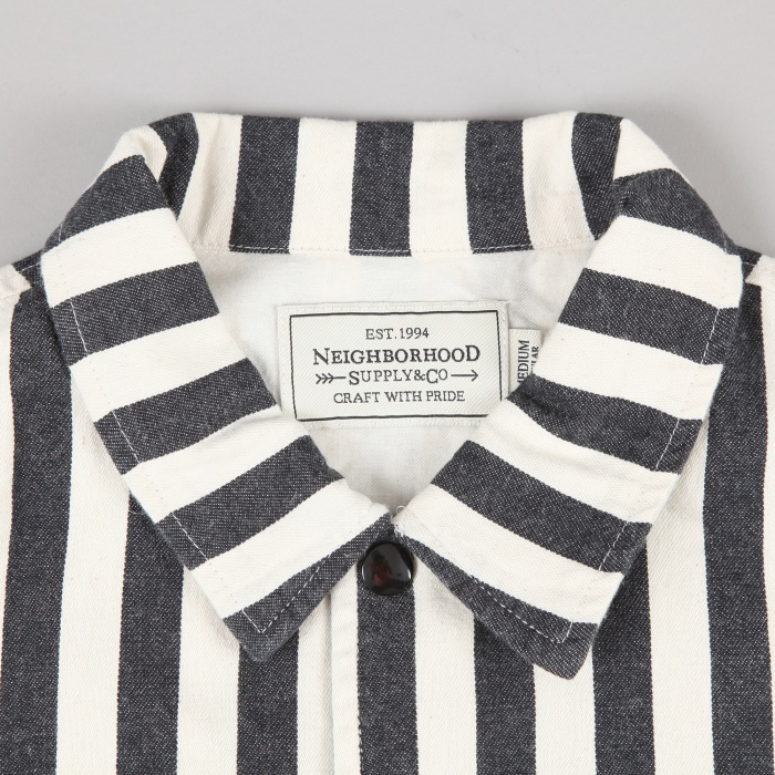Neighborhood Brooks Stripe Coach Jacket - Black (Image 1)