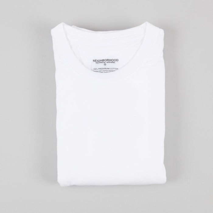 Neighborhood Classic 3 Pack Crew Tees - White (Image 1)