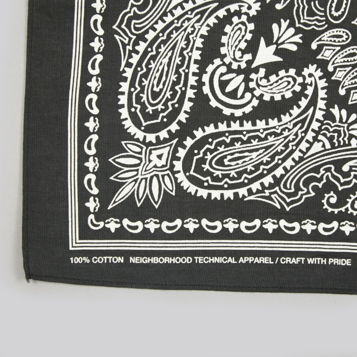 Neighborhood Paisley Bandana - Black (Image 1)