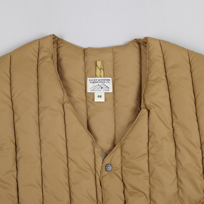 Rocky Mountain Featherbed Six Month Vest - Camel (Image 1)