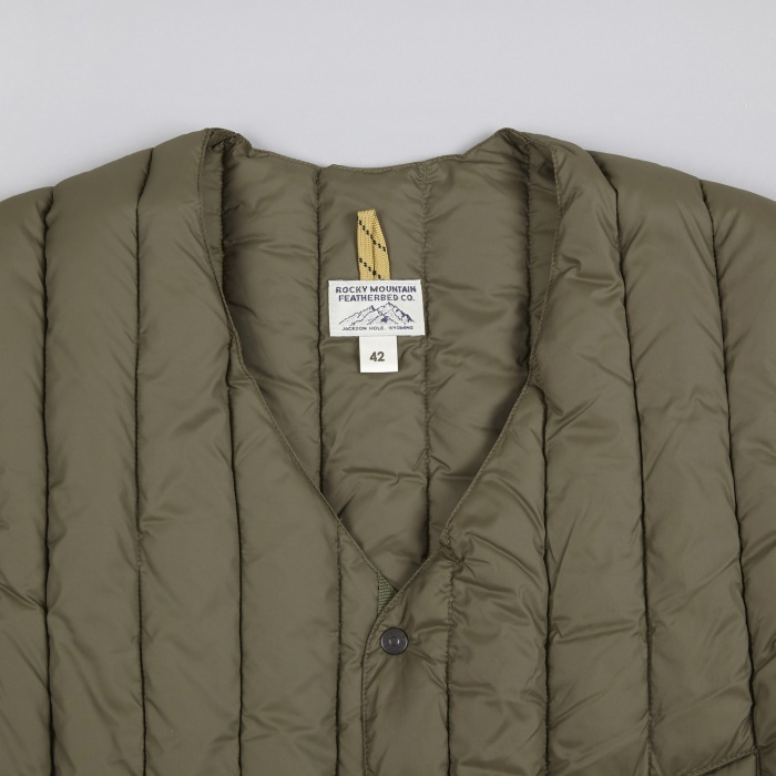 Rocky Mountain Featherbed Six Month Vest - Olive (Image 1)