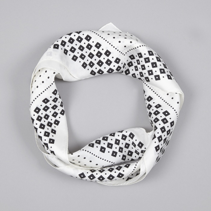 Unused Silk Bandana - White (Image 1)