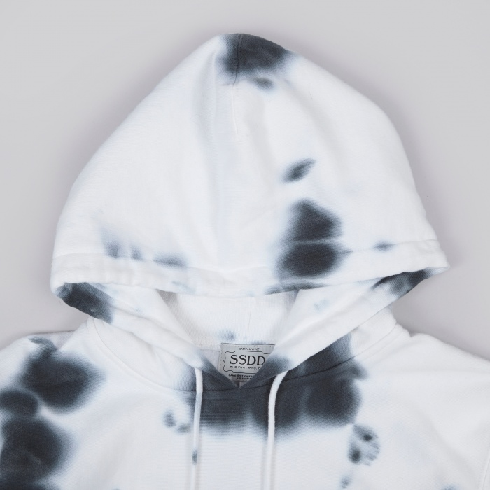 Fuct SSDD Sandoz Tie Dyed Pullover Hood - Black (Image 1)
