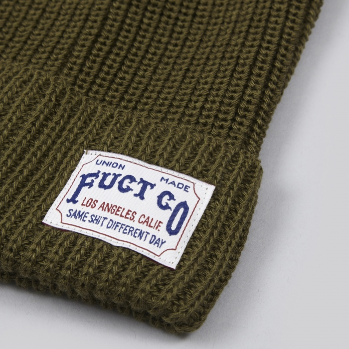 Fuct SSDD Fuct CO Watch Cap - Olive (Image 1)