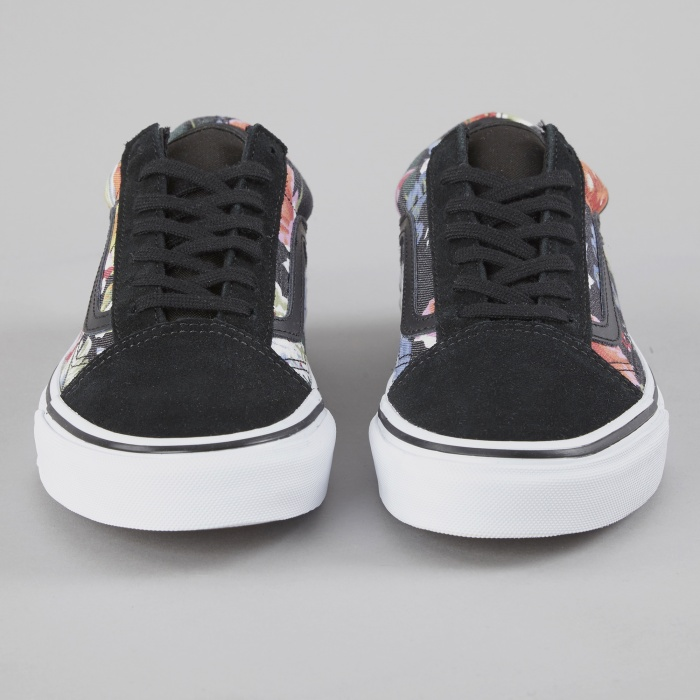 Vans Old Skool Floral - Black/True White (Image 1)