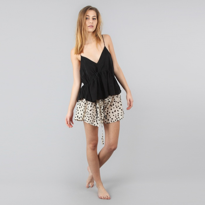 Lonely Hirschy Lounge Drawstring Shorts - Nude Dot (Image 1)