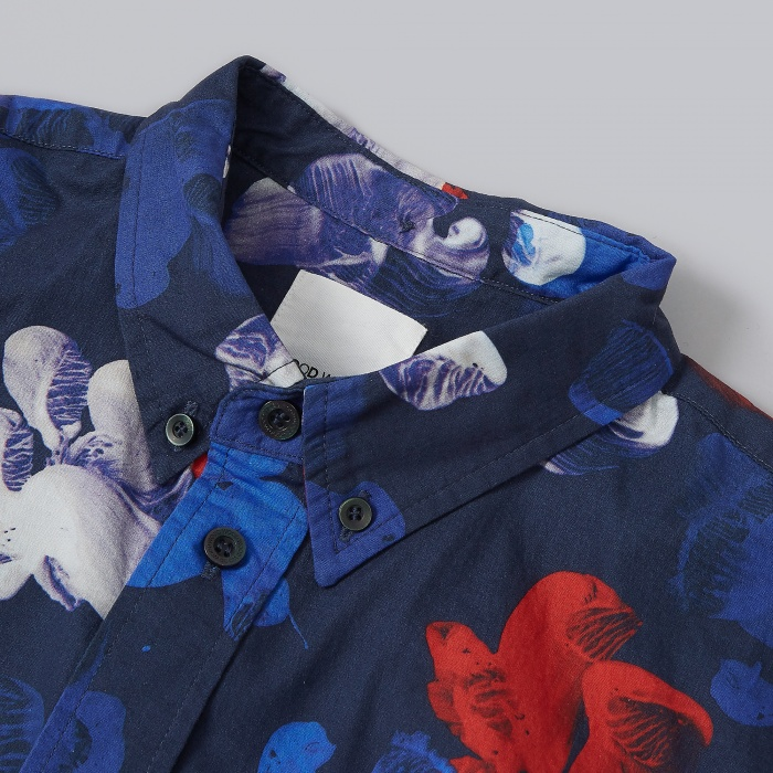 Wood Wood Pontus Shirt - Tropical Navy (Image 1)